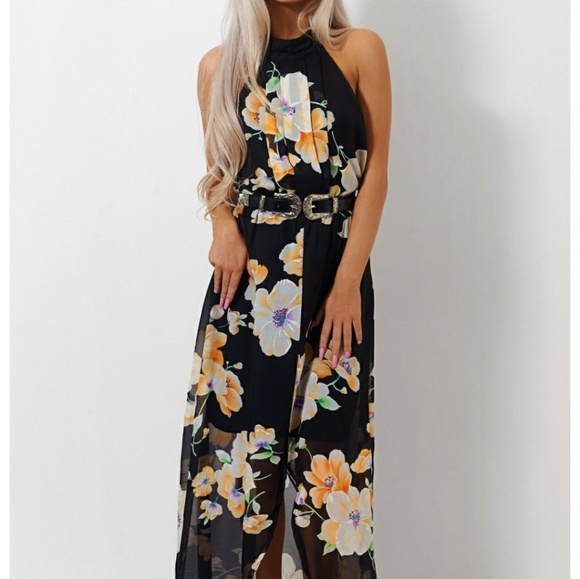 Tropical Print Maxi Dress The Fashion Bible Lowest Price Cheap Price Buy Cheap Enjoy Where To Buy fgyVLKpE2w